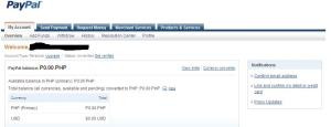 Unverified PayPal Account